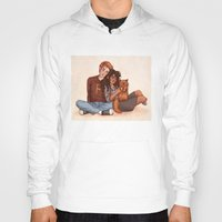 hermione Hoodies featuring Ron and Hermione by Susanne