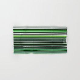 Emerald & Forest Stripes Hand & Bath Towel