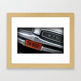 Grrrr! Framed Art Print