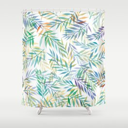 Watercolour Ferns | Tropical Colours Shower Curtain
