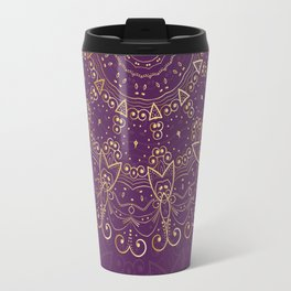 Mandala Golden Collection III Travel Mug