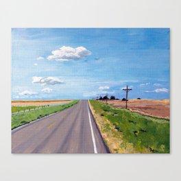 Prairie Highway Canvas Print