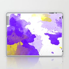 ABSTRACT WATERCOLOUR VIOLET Laptop & iPad Skin