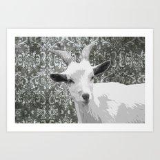 Goat Grey Art Print