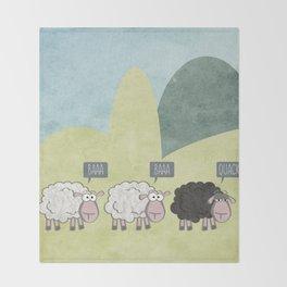 Rebel Sheep Throw Blanket
