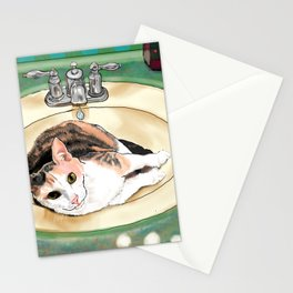 Catrina in the Sink Stationery Cards