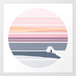 Sunset Surf Art Print