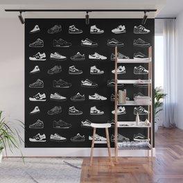 Black Sneaker Wall Mural