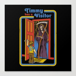 TIMMY HAS A VISITOR Canvas Print