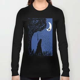 A Halloween night under the moon Long Sleeve T-shirt