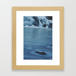 Gooseberry Frozen Falls  Framed Art Print