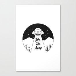 'Take Me Away' UFO Canvas Print