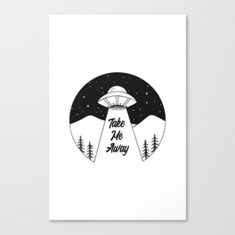 'Take Me Away' UFO Canvas Print
