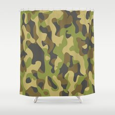 Military Pattern Shower Curtain