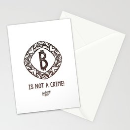 BITCOIN is not a crime! Stationery Cards