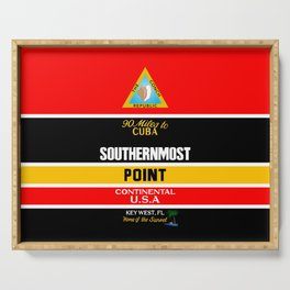 Southern Most Point, Key West, Florida/サザン・モスト・ポイント Serving Tray