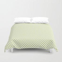 Daiquiri Green Polka Dots Duvet Cover