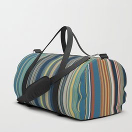 Blue and Gold Sky Stripes Duffle Bag