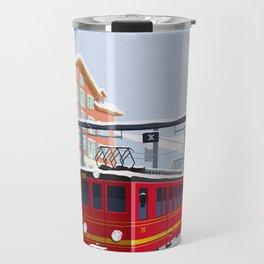 Grindelwald Ski Poster Travel Mug
