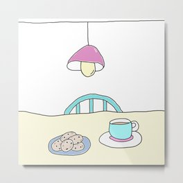 Hot beverage and cookies Metal Print