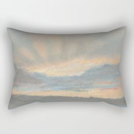 Sunset by Eugène Delacroix ca.1850, French Rectangular Pillow