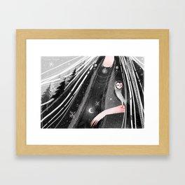 Snowtorm Framed Art Print