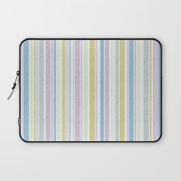Multicoloured striped pattern in pastel shades Laptop Sleeve