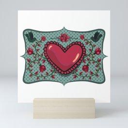 love and roses Mini Art Print