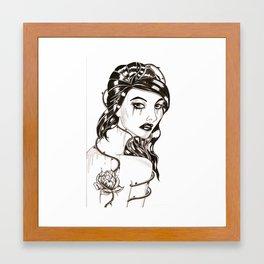 Girl with thorns. Framed Art Print