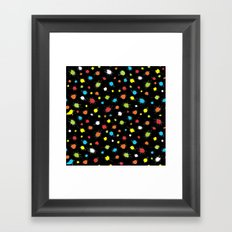 Neon Splattered Paint Framed Art Print