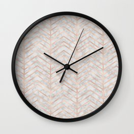 Marble With Zig Zag Wall Clock