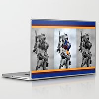 gundam Laptop & iPad Skins featuring Gundam Pride by Julie Maxwell
