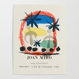Joan Miro - Exhibition poster Poster
