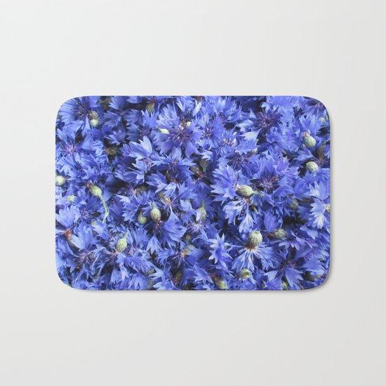 Bed of cornflowers Bath Mat