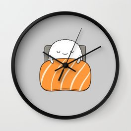 sleepy sushi Wall Clock