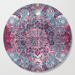 Vintage Boho Burgundy Mandala Cutting Board