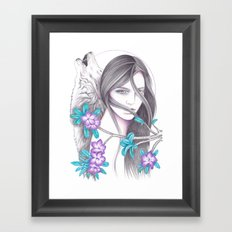Desert Flower Framed Art Print