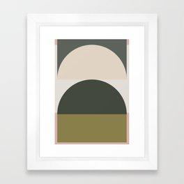 Contemporary Composition 14 Framed Art Print