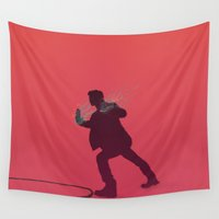 "teen wolf Wall Tapestries featuring Teen Wolf-""True Alpha"" by radruby"
