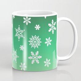 Snow Flurries-Green/Cream Ombre Coffee Mug