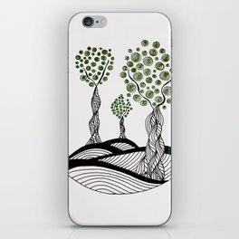 Green Tree Dots iPhone Skin