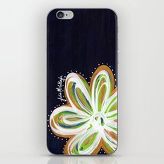 Navy and Gold Flower iPhone & iPod Skin