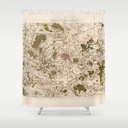 Carte de France (1756) Shower Curtain