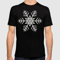 Snowflake | Black and White Mens Fitted Tee MEDIUM Black