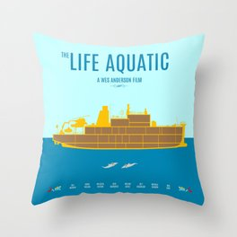The Life Aquatic - Alternative Movie Poster Throw Pillow