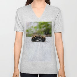 Wannabe Tiger (Fox Moth Caterpillar) Unisex V-Neck