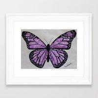 butterfly Framed Art Prints featuring Butterfly  by Ian Nicholson
