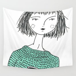 Coffee and Sweaters Wall Tapestry