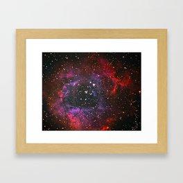 Rosette Nebula in Space, Winter 2017 Framed Art Print