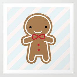 Cookie Cute Gingerbread Man Art Print